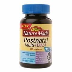 Nature Made 产后复合维生素+DHA 液体软胶囊 图片
