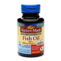Nature Made超浓缩欧米茄 3 鱼油软胶囊(1400 毫克)图片