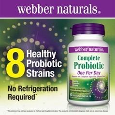 Webber Naturals完整益生菌素食胶囊 60粒图片
