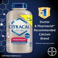 Citracal美信钙牌强力柠檬酸钙+维生素D3 280粒图片