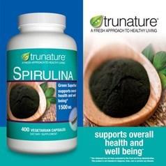 trunature®螺旋藻素食胶囊(1500 毫克)400粒图片