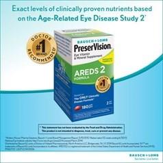 PreserVision博士伦护眼维生素AREDS 2配方胶囊 180粒图片