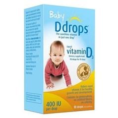 Ddrops婴儿维生素D3(400单位)90天用量图片
