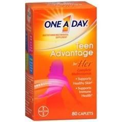 One A Day少年女孩复合维生素片 80粒图片