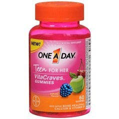 One A Day VitaCraves青少年女孩维生素软糖 60粒图片