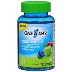 One A Day VitaCraves青少年男孩复合维生素软糖 60粒图片