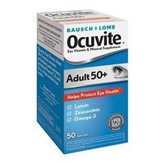 Ocuvite牌50岁以上护眼维生叶黄素欧米茄3胶囊 50粒图片