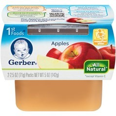 Gerber 嘉宝1段辅食苹果果泥 71克,2瓶图片