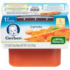 Gerber 嘉宝1段辅食胡萝卜菜泥 71克,2瓶图片