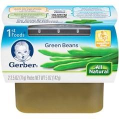 Gerber 嘉宝1段辅食青豆菜泥 71克,2瓶图片