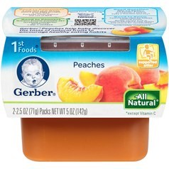 Gerber 嘉宝1段辅食桃子果泥 71克,2瓶图片
