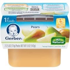 Gerber 嘉宝1段辅食梨子果泥 71克,2瓶图片