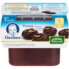 Gerber 嘉宝1段辅食梅子果泥 71克,2瓶图片