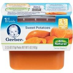 Gerber 嘉宝1段辅食红薯菜泥 71克,2瓶图片