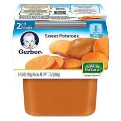 Gerber 嘉宝2段辅食红薯菜泥 198克,2瓶图片
