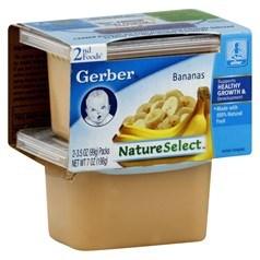 Gerber 嘉宝2段辅食香蕉果泥 198克,2瓶图片