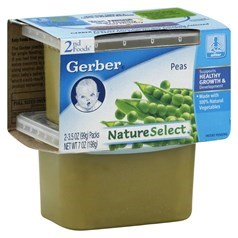 Gerber 嘉宝2段辅食豌豆菜泥 198克,2瓶图片