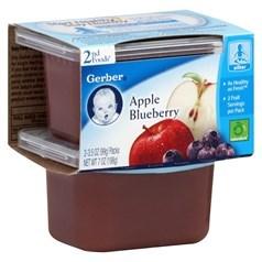 Gerber 嘉宝2段辅食苹果黑莓果泥 198克,2瓶图片