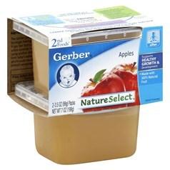 Gerber 嘉宝2段辅食苹果果泥 198克,2瓶图片