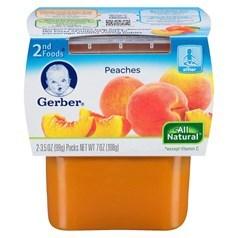 Gerber 嘉宝2段辅食水蜜桃果泥 198克,2瓶图片