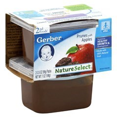 Gerber 嘉宝2段辅食梅子苹果果泥 198克,2瓶图片