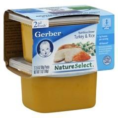 Gerber 嘉宝2段辅食火鸡米饭泥 198克,2瓶图片