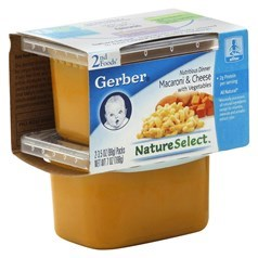Gerber 嘉宝2段辅食芝士通心面泥 198克,2瓶图片