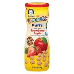 Gerber嘉宝星型草莓苹果谷物泡芙 42克图片