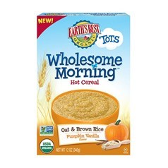 Earth's Best早餐燕麦糙米米粉(南瓜香草味)半磅图片