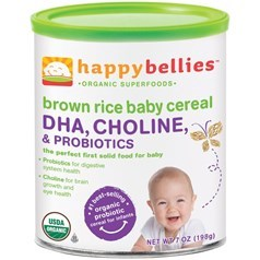 Happy Bellies禧贝有机糙米DHA益生菌一段米粉 198克图片