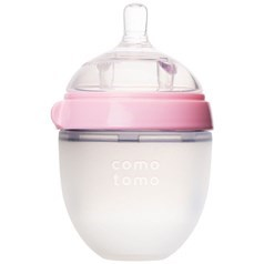 Comotomo硅胶软奶瓶 粉红色 145毫升图片