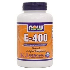 Now Foods牌天然维生素E-400素食胶囊 250粒图片