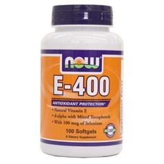 Now Foods牌含硒维生素E-400素食胶囊 100粒图片