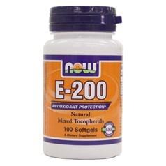Now Foods牌天然维生素E-200软胶囊 100粒图片
