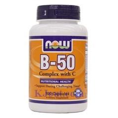 Now Foods牌复合维生素B-50 + 维生素C胶囊 100粒图片