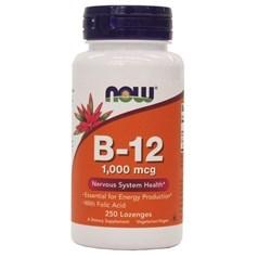 Now Foods牌维生素B-12 + 叶酸含片 250粒图片