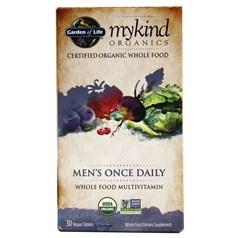 Garden of Life牌mykind有机系列男士每日一粒复合维生素胶囊 30粒图片