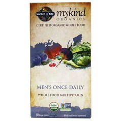 Garden of Life牌mykind有机系列男士每日一粒复合维生素胶囊 60粒图片