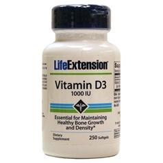 Life Extension牌维生素D3软胶囊 1000单位 250粒图片