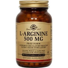 Solgar牌L-精氨酸素食胶囊  500毫克 100粒图片
