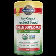 Garden of Life生命花园牌有机原生高级绿色蔬菜纤维粉(苹果味) 209克图片