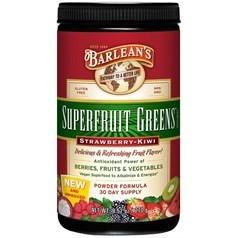 Barlean's牌浓缩有机绿色水果蔬菜粉(草莓猕猴桃味) 270克 三十天量图片