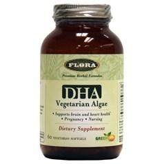 Flora牌海藻提取物DHA素食软胶囊 60粒图片
