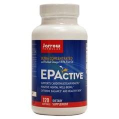Jarrow Formulas牌EPActive 高浓度高纯度Omega-3鱼油软胶囊 120粒图片