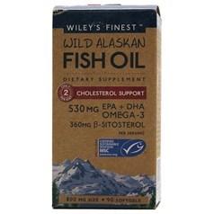 Wiley's Finest牌降胆固醇型美国阿拉斯加野生深海鱼油软胶囊 800毫升 90粒图片