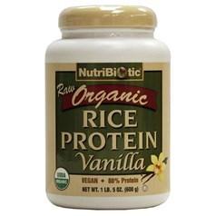 NutriBiotic牌有机大米蛋白粉 香草味味 500克 40次用量图片