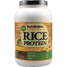 NutriBiotic牌有机大米蛋白粉 香草味 1360克 90次用量图片