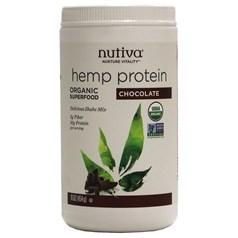 Nutiva牌有机大麻籽蛋白质粉奶昔 巧克力味 454克 15天用量图片
