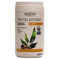 Nutiva牌有机大麻籽蛋白质粉奶昔 香草味 454克 15天用量图片