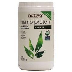 Nutiva牌有机大麻籽蛋白质粉奶昔 高膳食纤维素 454克 15天用量图片